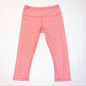 Glider Pink Capri Workout Leggings XS